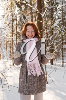 Royalty Free Photo of a Woman in a Forest