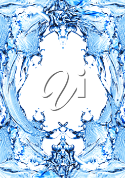 Royalty Free Clipart Image of a Water Frame