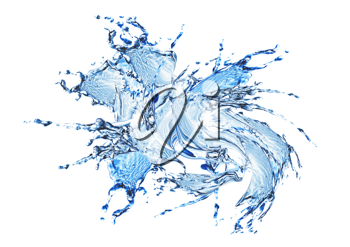 Royalty Free Clipart Image of a Water Splash