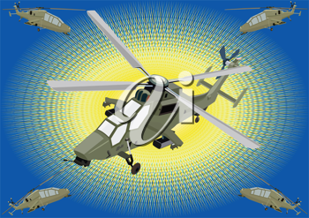 Royalty Free Clipart Image of a Helicopters