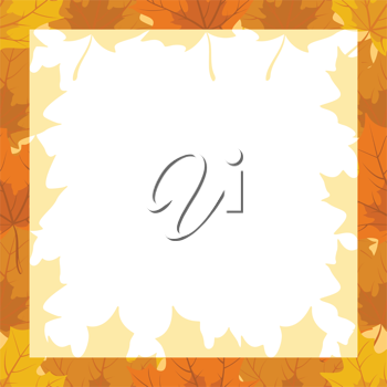 Royalty Free Clipart Image of an Autumn Frame