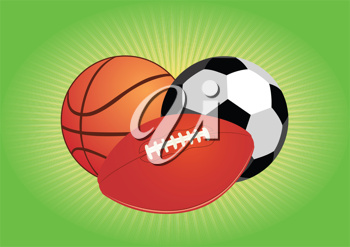 Royalty Free Clipart Image of Sport Balls