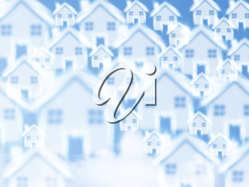 Royalty Free Photo of a Background of Multiple Alike Homes