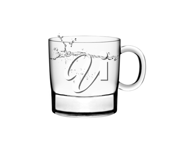 Royalty Free Photo of a Glass of Water with Water Splashes