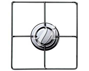 Stainless steel gas hob or stove.