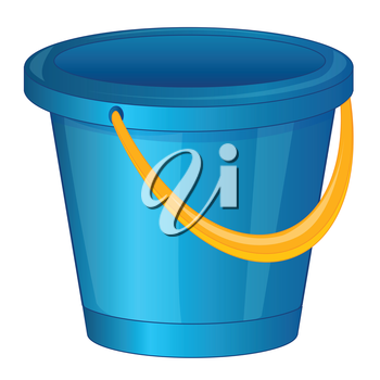 Started blue pail from plastic arts.Vector illustration
