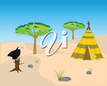 Vector illustration to deserts and hollered on tree