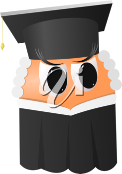 Royalty Free Clipart Image of an Angry Judge