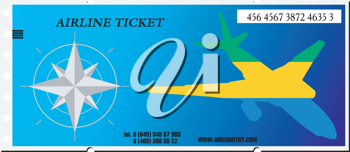 Royalty Free Photo of a Ticket to Gabon