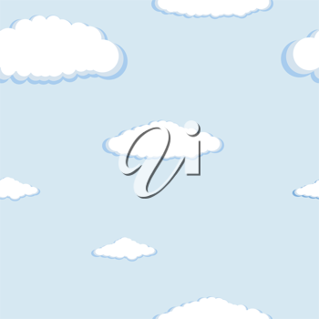Royalty Free Clipart Image of a Blue Sky With clouds