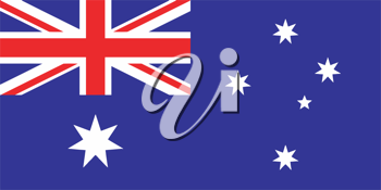 Vector illustration of the flag of  Australia