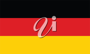 Vector illustration of the flag of Germany