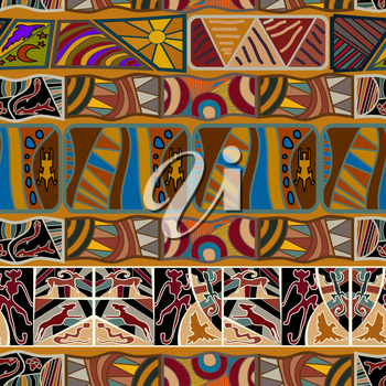 Seamless pattern in the African style. Vector illustration