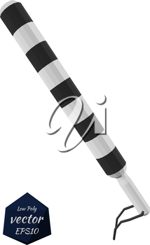 Police baton isolated on white background. Accessory police officer. Vector illustration.