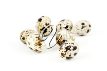 Royalty Free Clipart Image of Quail Eggs