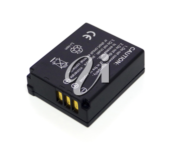 Lithium ion battery for digital camera on white beckground