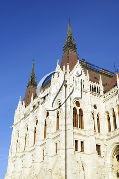 The building of the Hungarian Parliament in Budapest