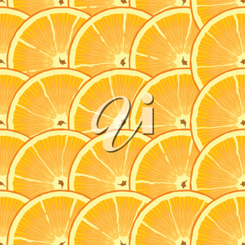 Royalty Free Clipart Image of am Orange Slice Background