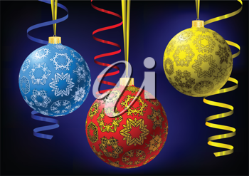 Royalty Free Clipart Image of Christmas Oranments