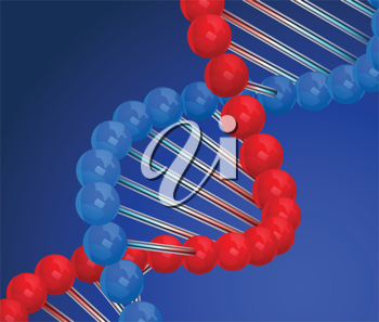 Royalty Free Clipart Image of a DNA Strand