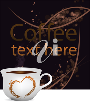 Royalty Free Clipart Image of a Coffee Background