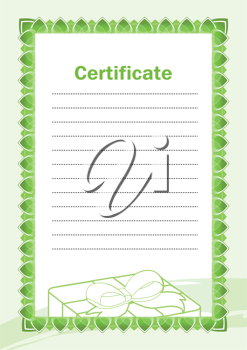 Royalty Free Clipart Image of a Blank Certificate