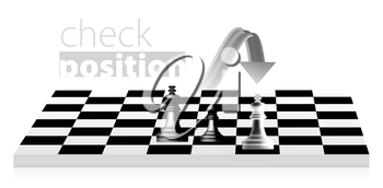 Royalty Free Clipart Image of a Chess Move