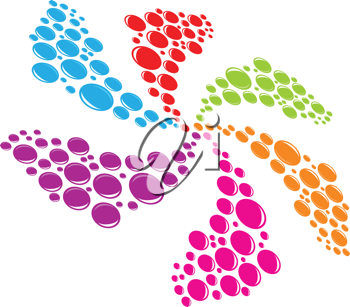 Royalty Free Clipart Image of a Multi-Coloured Splash