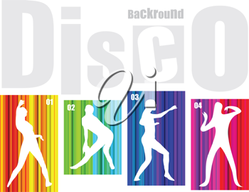 Royalty Free Clipart Image of a Disco Background