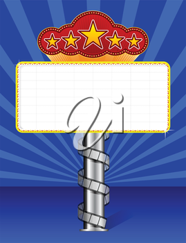 Royalty Free Clipart Image of a Marquee