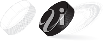 Royalty Free Clipart Image of a Hockey Puck