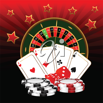 Royalty Free Clipart Image of a Casino Themed Background