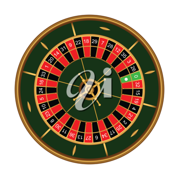 Royalty Free Clipart Image of a Roulette Table