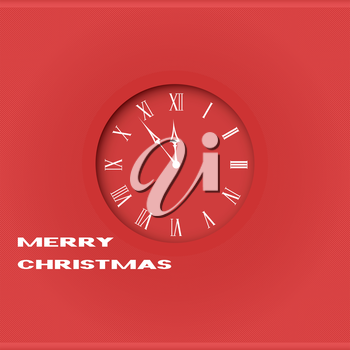 Royalty Free Clipart Image of a Christmas Clock