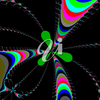 Colour Newton set abstract fractal illustration useful as a background