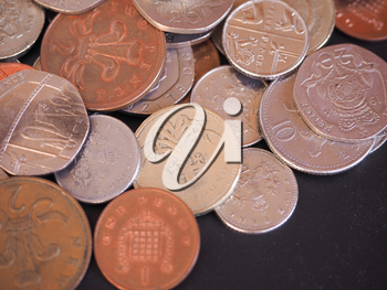 British Pounds coins of the United Kingdom