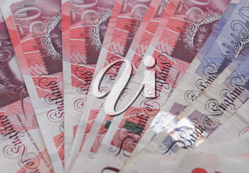 LONDON, UK - SEPTEMBER 05, 2015: British Pound banknotes currency of the United Kingdom