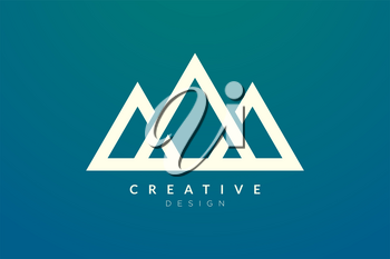 Triangle shaped mountain logo design. Minimalist and modern vector design for your business brand or product