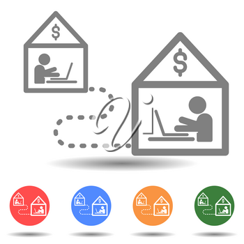 Work from home vector icon in simple style