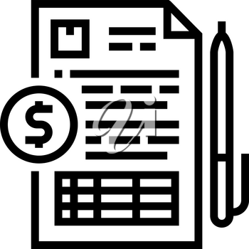 record keeping line icon vector. record keeping sign. isolated contour symbol black illustration