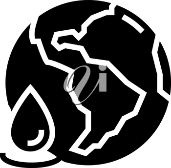 ocean water glyph icon vector. ocean water sign. isolated contour symbol black illustration