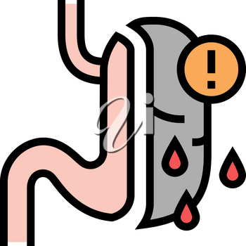 risk of complications, severe bleeding color icon vector. risk of complications, severe bleeding sign. isolated symbol illustration