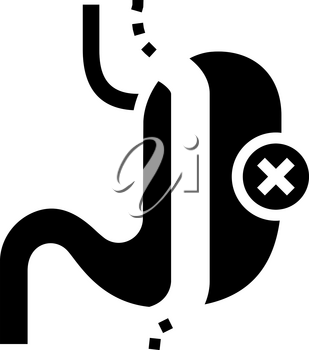 sleeve resection bariatric line icon vector. sleeve resection bariatric sign. isolated contour symbol black illustration