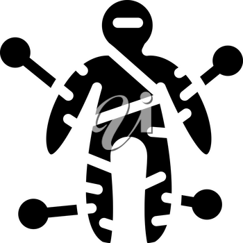 voodoo doll glyph icon vector. voodoo doll sign. isolated contour symbol black illustration