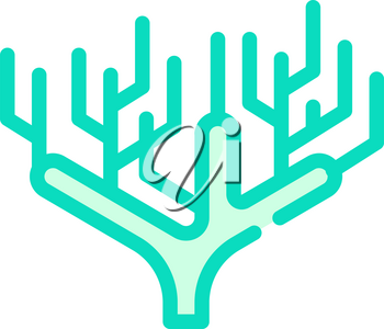 coral plant color icon vector. coral plant sign. isolated symbol illustration