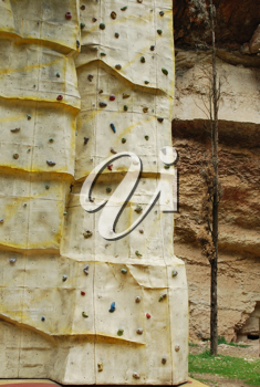Royalty Free Photo of a Climbing Wall
