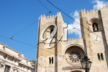 Royalty Free Photo of the Oldest Church in Lisbon Portugal