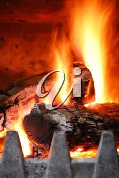 Royalty Free Photo of a Fireplace