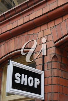 Royalty Free Photo of an Antique Shop Sign