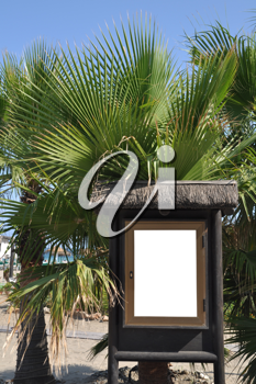 Royalty Free Photo of a Billboard at the Beach